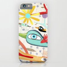 Cat and Birds Illustration 2016 Slim Case iPhone 6s