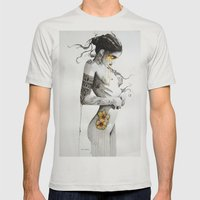 90725 Mens Fitted Tee Silver SMALL