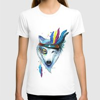 -Wild Soul- Womens Fitted Tee White SMALL
