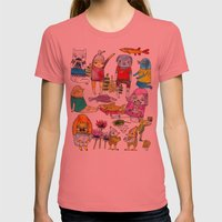 Critter collection Womens Fitted Tee Pomegranate SMALL