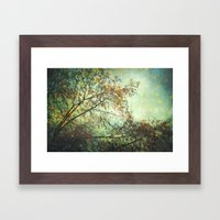 Magic In The Forest/ Gre… Framed Art Print