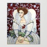 Elizabeth, The Virgin Qu… Canvas Print