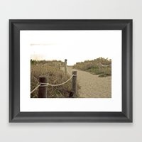Footpath Framed Art Print