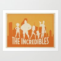 The Incredibles Movie Poster Art Print