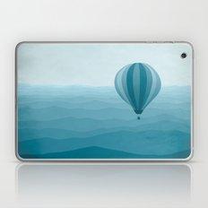 Hot Air Balloon in Blue Laptop & iPad Skin