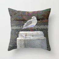 Throw Pillow featuring Look At Me! by Waggytailspetportrai…