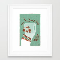 Toilet Paper Framed Art Print