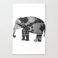 Elephant (The  Living Things Series)  Canvas Print