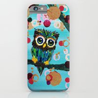 iPhone & iPod Case featuring :: Gemmy Owl Loves Jewel Trees :: by :: GaleStorm Artworks ::