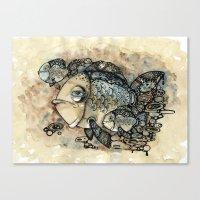 Arrogant Fish Canvas Print