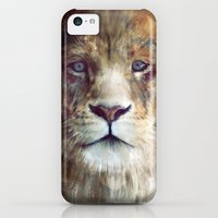 iPhone 5c Cases featuring Lion // Majesty by Amy Hamilton