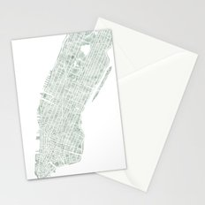 Map Manhattan NYC watercolor map Stationery Cards