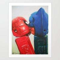 Super Romance Art Print