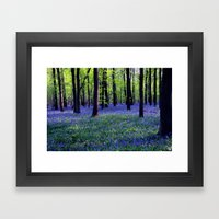 drowning in the bluebell sea Framed Art Print