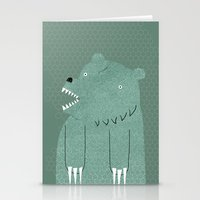 bear Stationery Cards featuring Friendly Bear by Sarajea