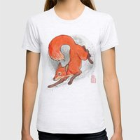 Fox Neighbor Womens Fitted Tee Ash Grey SMALL