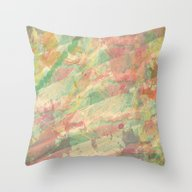 Soft Color Splash Abstra… Throw Pillow