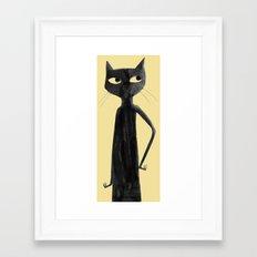Kitty Cat Don't Care Framed Art Print
