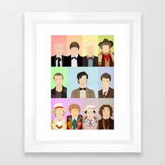 Call me... the Doctor. Framed Art Print