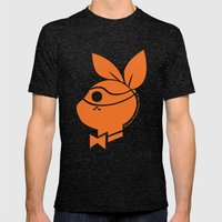 Playboy Turtle: Michelangelo Mens Fitted Tee Tri-Black SMALL