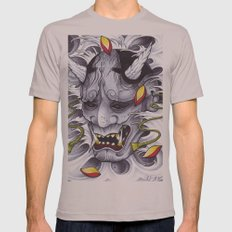 Hannya Mens Fitted Tee Cinder SMALL
