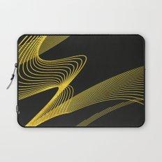 Gold Elegant -Piano Black- Laptop Sleeve