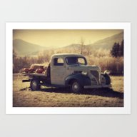 Art Print featuring Fall Vintage Truck With … by LJehle Photography