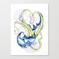 Leviathan Heart  Canvas Print