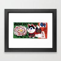 Botan Rice Candy Meow Framed Art Print