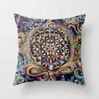 Gayatri - Creation Om Time Throw Pillow