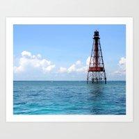 Sombrero Reef Art Print