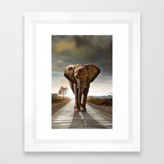 Elephant cover Framed Art Print