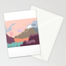 Pink Sky Mountain Stationery Cards