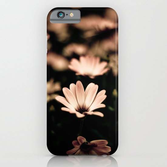 White Flower on Black  iPhone & iPod Case