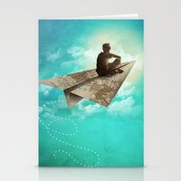 Paper Aeroplane Stationery Cards