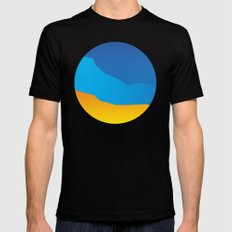 Land SMALL Black Mens Fitted Tee