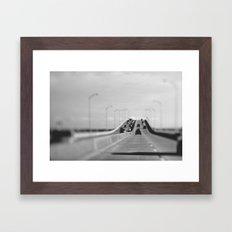3 mile bridge Framed Art Print