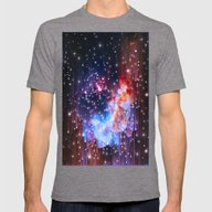 StarField Mens Fitted Tee Tri-Grey SMALL