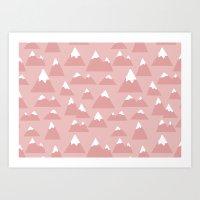 Mountain Pattern Art Print
