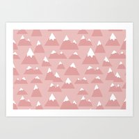 Mountain pattern Art Print