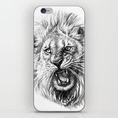 Lion roar G141 iPhone & iPod Skin