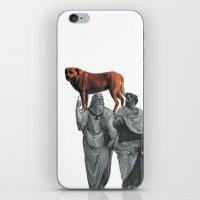 plato n aristotle walking their doge iPhone & iPod Skin
