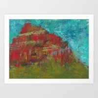 Red Mountain Art Print