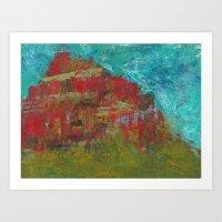 Red Mountain Art Print