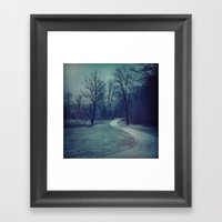 COLD PATH Framed Art Print