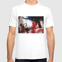 Monitor Mens Fitted Tee White SMALL
