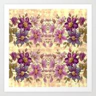 Floral Border Art Print
