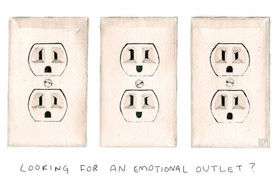 Emotional Outlets Art Print