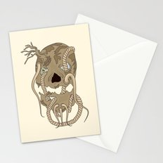 Dead Living by Tree Stationery Cards