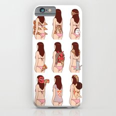 Girl & Pizza iPhone 6 Slim Case